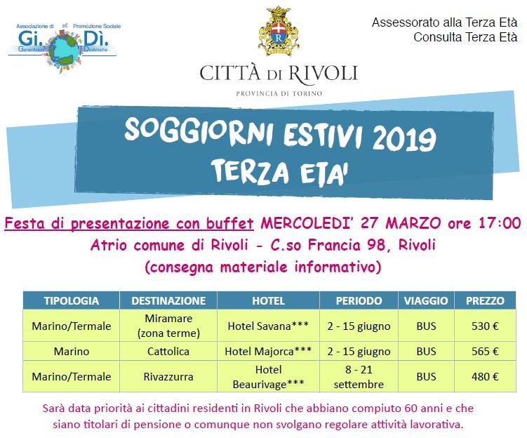 Soggiorni estivi terza età 2019 - Festa di presentazione ...